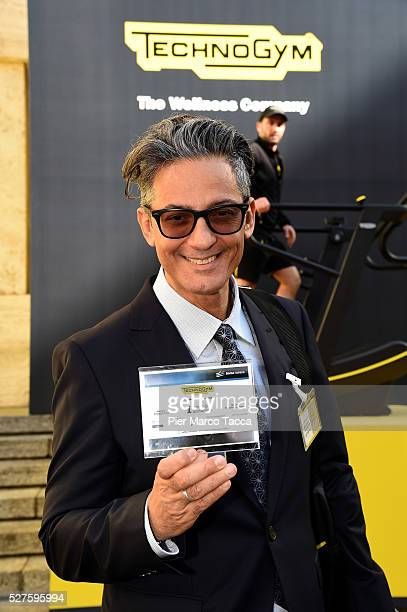 Rosario Fiorello attends the Technogym Listing Ceremony at Palazzo Mezzanotte on May 3 2016 in Milan Italy Technogym is the world leader in the...