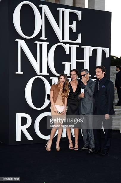 Rosario Fiorello Roberta Armani Alessandro Preziosi and Olivia Biondo attend 'One Night Only' Roma on June 5 2013 in Rome Italy