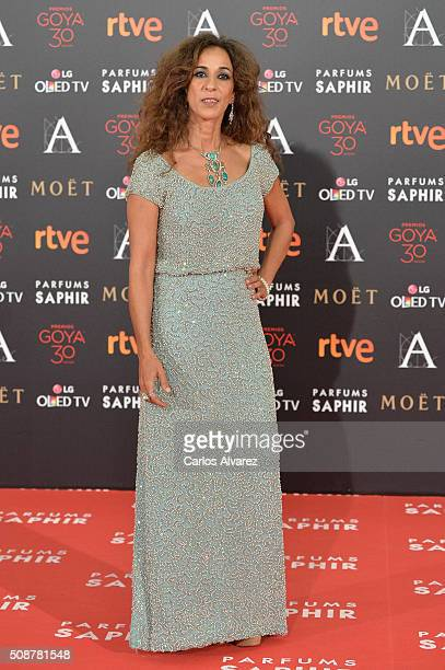 Rosario Flores attends Goya Cinema Awards 2016 at Madrid Marriott Auditorium on February 6 2016 in Madrid Spain