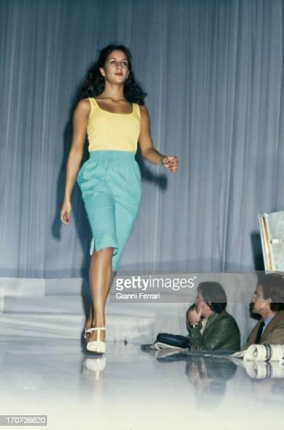 Rosario Flores daughter of Lola Flores in a fashion show Madrid Castilla La Mancha Spain