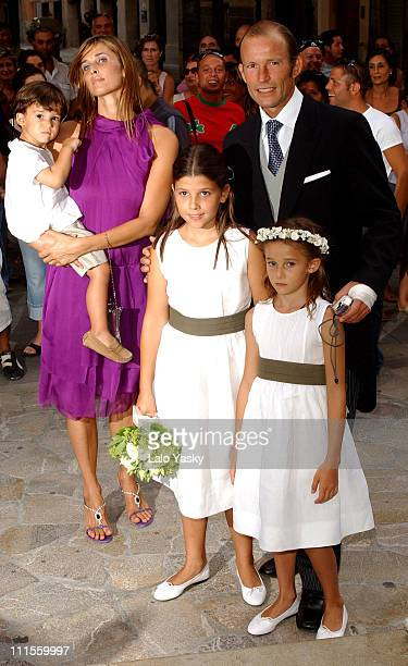 Rosario Nadal and Kyril of Bulgary with their children Tasilo Olimpia and Mafalda