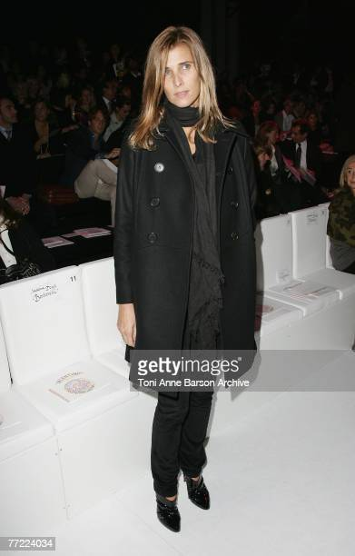 Rosario Nadal attends the Valentino Fashion Show on October 3rd 2007 in Paris