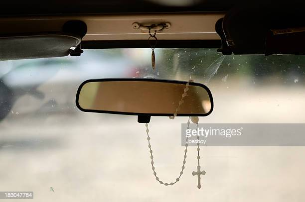 Rosary On Rear View Mirrow
