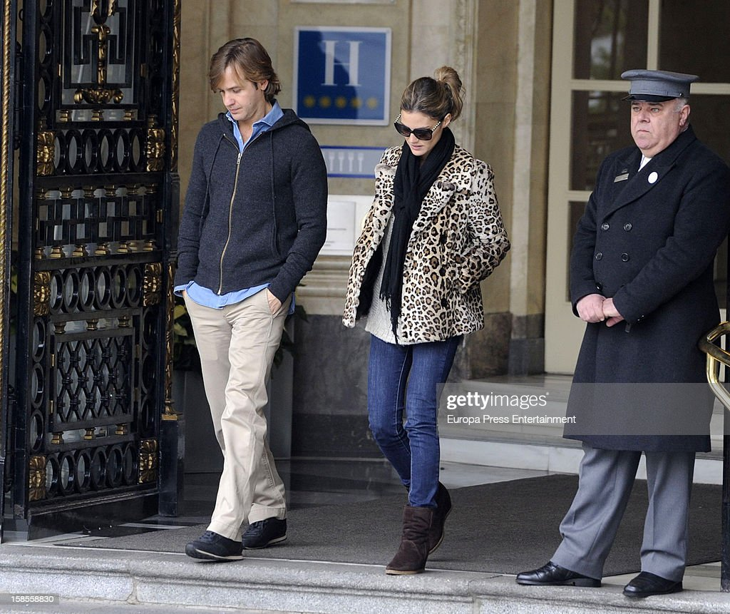 Rosauro Baro and Amaia Salamanca are seen on December 18, 2012 in Madrid, Spain.