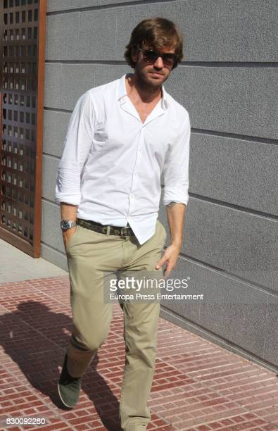 Rosauro Baro attends the funeral chapel for former motorcycling world champion Angel Nieto at Tanatorio de Ibiza on August 4 2017 in Ibiza Spain