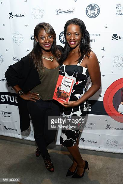 Rose and actress Kelsey Scott attend the book launch for 'From CStudent to the CSuite Leveraging Emotional Intelligence' at PLATFORM in Hayden Tract...