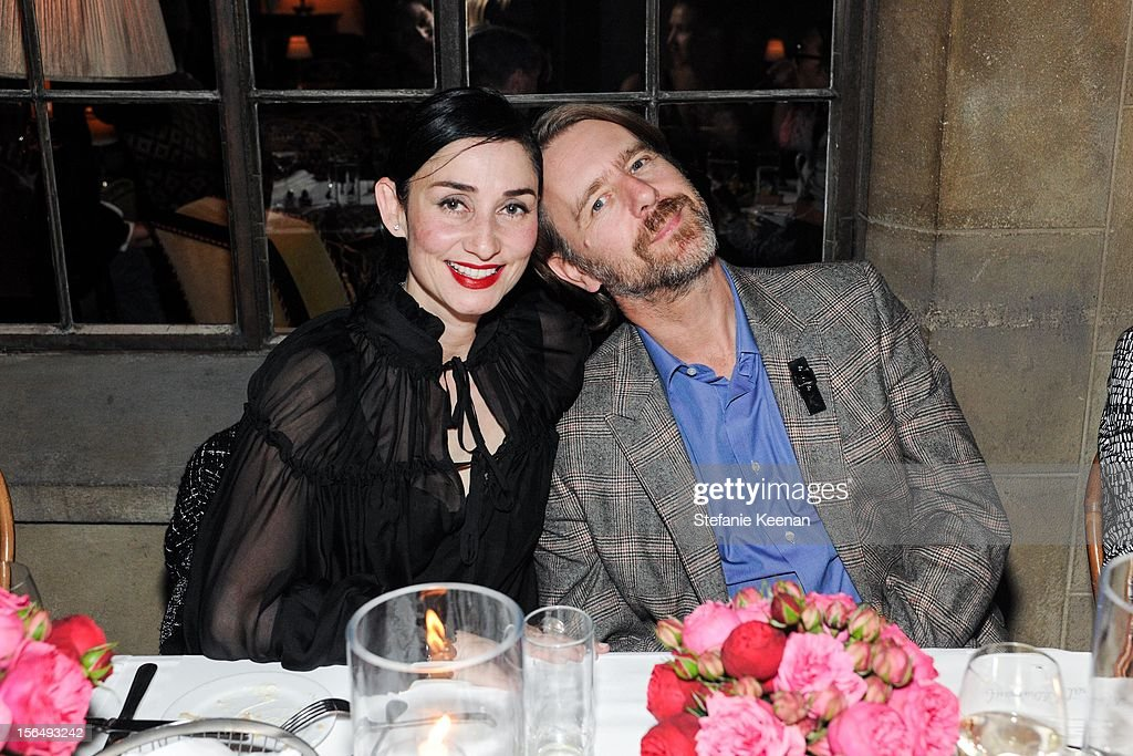 Rose Apodaca and Andy Griffith attend Juan Carlos Obando Jewelry Collection Launch Dinner at Chateau Marmont on November 15, 2012 in Los Angeles, California.