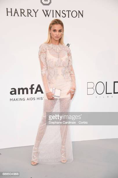 Rose Bertram arrives at the amfAR Gala Cannes 2017 at Hotel du CapEdenRoc on May 25 2017 in Cap d'Antibes France