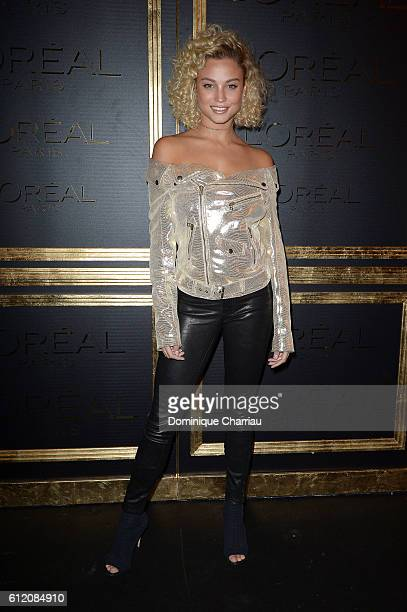 PARIS FRANCE OCTOBER 02 Rose Bertram attends attends the L'OreAL Gold Obsession Party as part of the Paris Fashion Week Womenswear Spring/Summer...