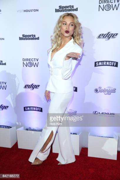 Rose Bertram attends Sports Illustrated Swimsuit 2017 Launch Event at Center415 Event Space on February 16 2017 in New York City