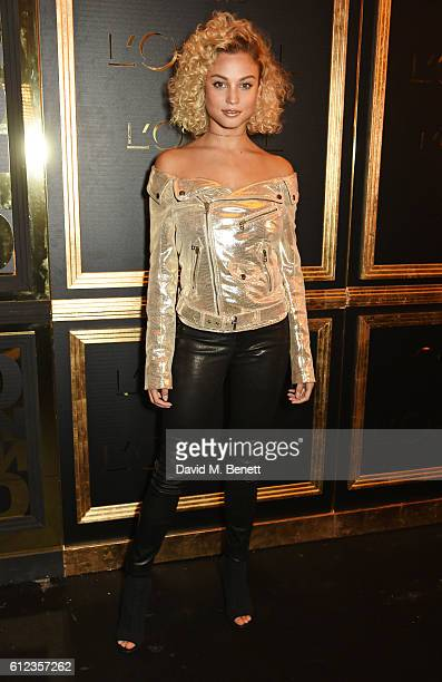 Rose Bertram attends the L'Oreal Paris Gold Obsession Party at Hotel de la Monnaie on October 2 2016 in Paris France