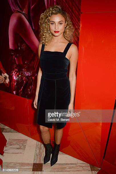 Rose Bertram attends the Red Obsession party in Paris to celebrate L'Oreal Paris's partnership with Paris Fashion Week L'Oreal Paris spokesmodels...