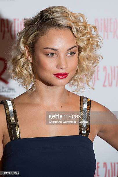 Rose Bertram attends the Sidaction Gala Dinner 2017 as part of Paris Fashion Week on January 26 2017 in Paris France