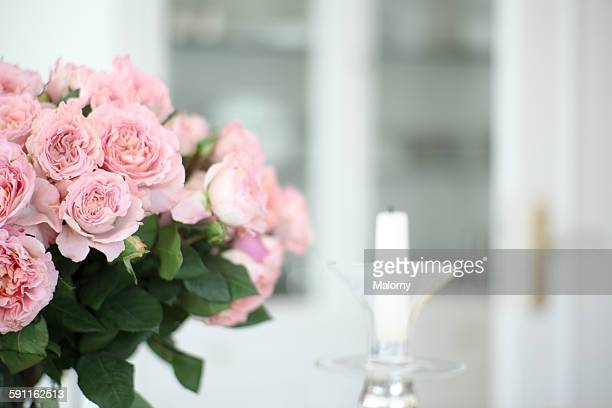 Rose bouquet in luxury home or villa, Germany