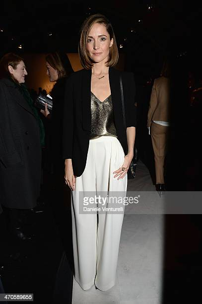 Rose Bryne attends the Max Mara show as part of Milan Fashion Week Womenswear Autumn/Winter 2014 on February 20 2014 in Milan Italy