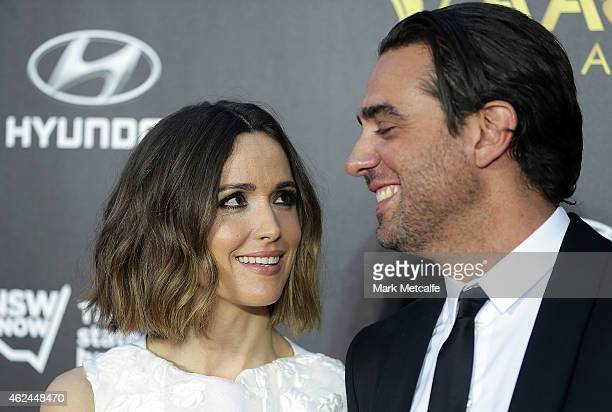Rose Byrne and Bobby Cannavale arrive at the 4th AACTA Awards Ceremony at The Star on January 29 2015 in Sydney Australia