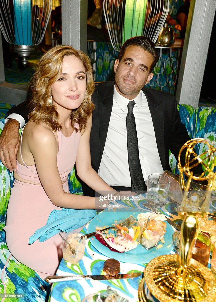 <a gi-track='captionPersonalityLinkClicked' href=/galleries/search?phrase=Rose+Byrne&family=editorial&specificpeople=206670 ng-click='$event.stopPropagation()'>Rose Byrne</a> and <a gi-track='captionPersonalityLinkClicked' href=/galleries/search?phrase=Bobby+Cannavale&family=editorial&specificpeople=211166 ng-click='$event.stopPropagation()'>Bobby Cannavale</a> attend HBO's official Emmy after party at The Plaza at the Pacific Design Center on September 22, 2013 in Los Angeles, California.
