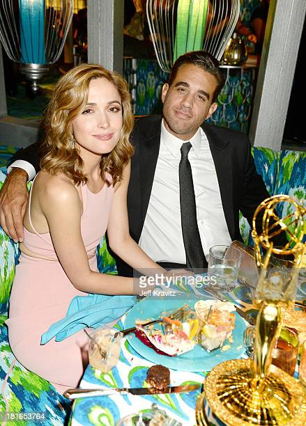 Rose Byrne and Bobby Cannavale attend HBO's official Emmy after party at The Plaza at the Pacific Design Center on September 22 2013 in Los Angeles...