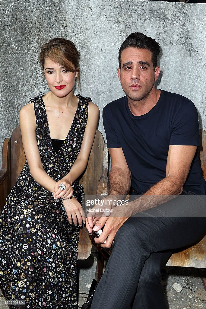 Rose Byrne and Bobby Cannavale attends the Chanel show as part of Paris Fashion Week Haute-Couture Fall/Winter 2013-2014 at Grand Palais on July 2, 2013 in Paris, France.