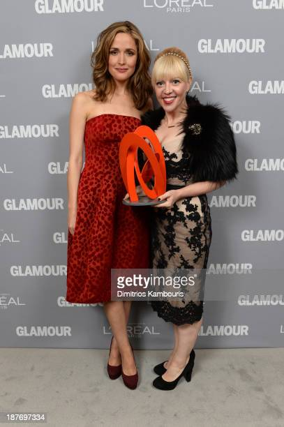 Rose Byrne and Catherine Martin Rose Byrne attends Glamour's 23rd annual Women of the Year awards on November 11 2013 in New York City
