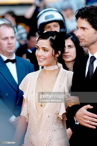 Rose Byrne and Eric Bana during 2004 Cannes Film Festival Troy Premiere at Palais Du Festival in Cannes France