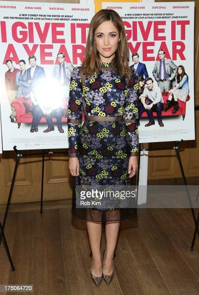 Rose Byrne arrives at 'I Give It A Year' Special New York Screening at 79 Crosby Street on July 30 2013 in New York City