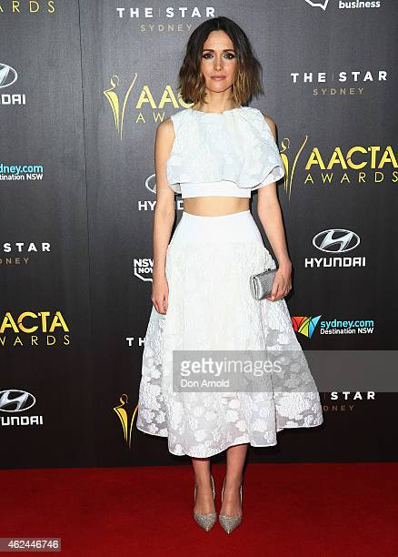 Rose Byrne arrives at the 4th AACTA Awards Ceremony at The Star on January 29 2015 in Sydney Australia