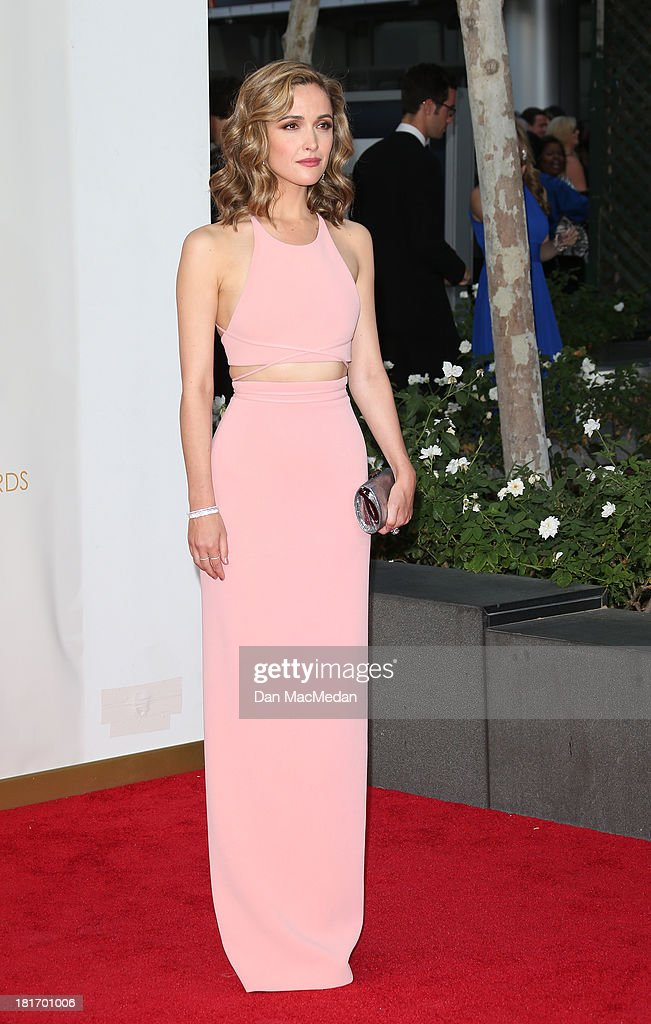 Rose Byrne arrives at the 65th Annual Primetime Emmy Awards at Nokia Theatre L.A. Live on September 22, 2013 in Los Angeles, California.
