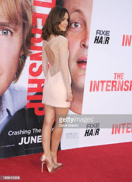 Rose Byrne arrives at 'The Internship' Los Angeles Premiere at Regency Village Theatre on May 29 2013 in Westwood California