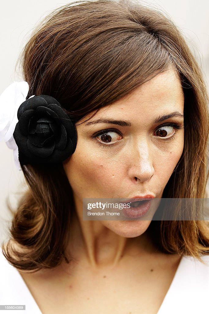 Rose Byrne arrives at the Melbourne Cup at Flemington Racecourse on November 6, 2012 in Melbourne, Australia.