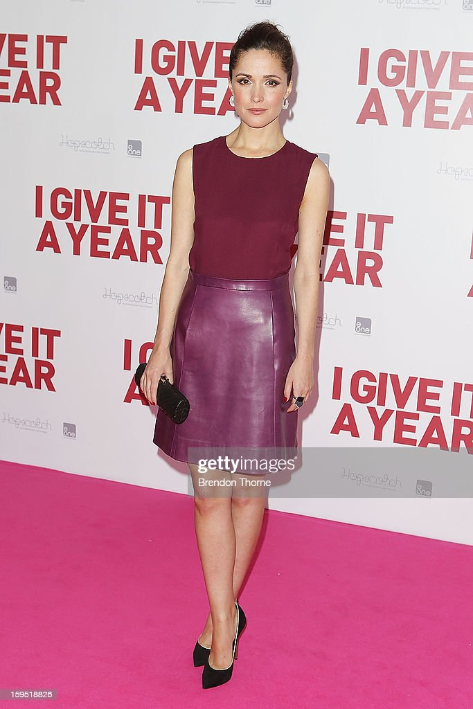 Rose Byrne arrives at the premiere of 'I Give It A Year' at Event Cinemas George Street on January 15, 2013 in Sydney, Australia.