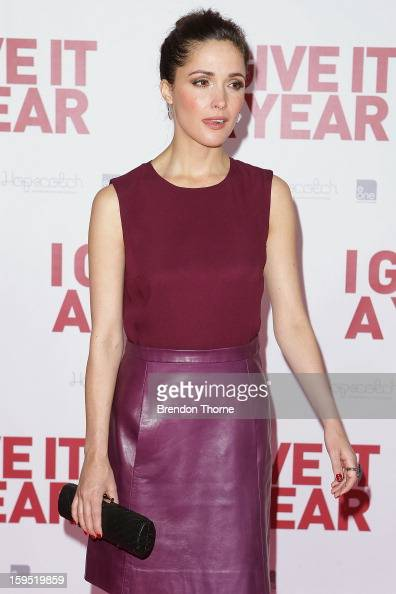 Rose Byrne arrives at the premiere of 'I Give It A Year' at Event Cinemas George Street on January 15 2013 in Sydney Australia