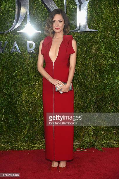 Rose Byrne attends the 2015 Tony Awards at Radio City Music Hall on June 7 2015 in New York City