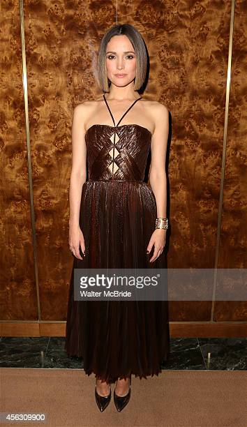 Rose Byrne attends the Broadway Opening Night performance After Party for 'You Can't Take It With You' at the Brasserie 8 1/2 on September 28 2014 in...