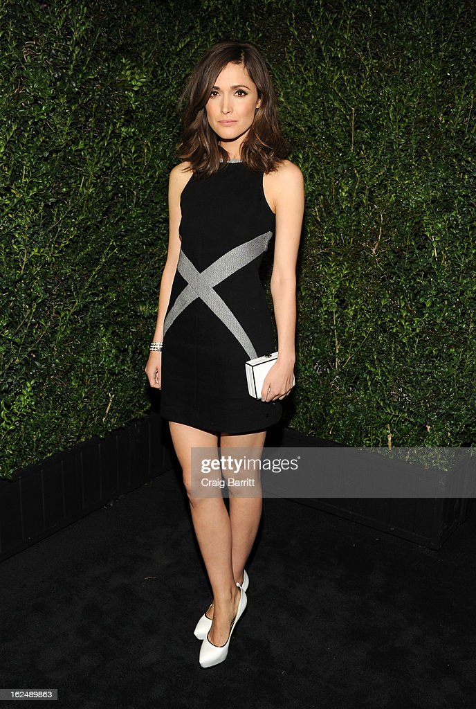 Rose Byrne attends the Chanel Pre-Oscar dinner at Madeo Restaurant on February 23, 2013 in Los Angeles, California.