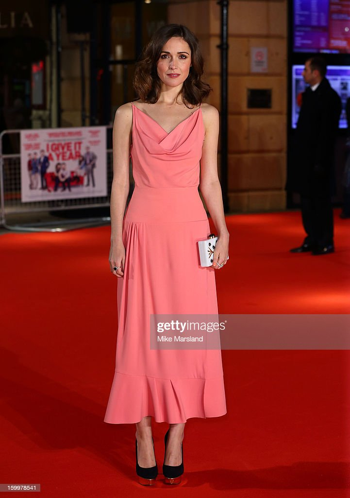 Rose Byrne attends the European Premiere of 'I Give It A Year' at Vue West End on January 24, 2013 in London, England.