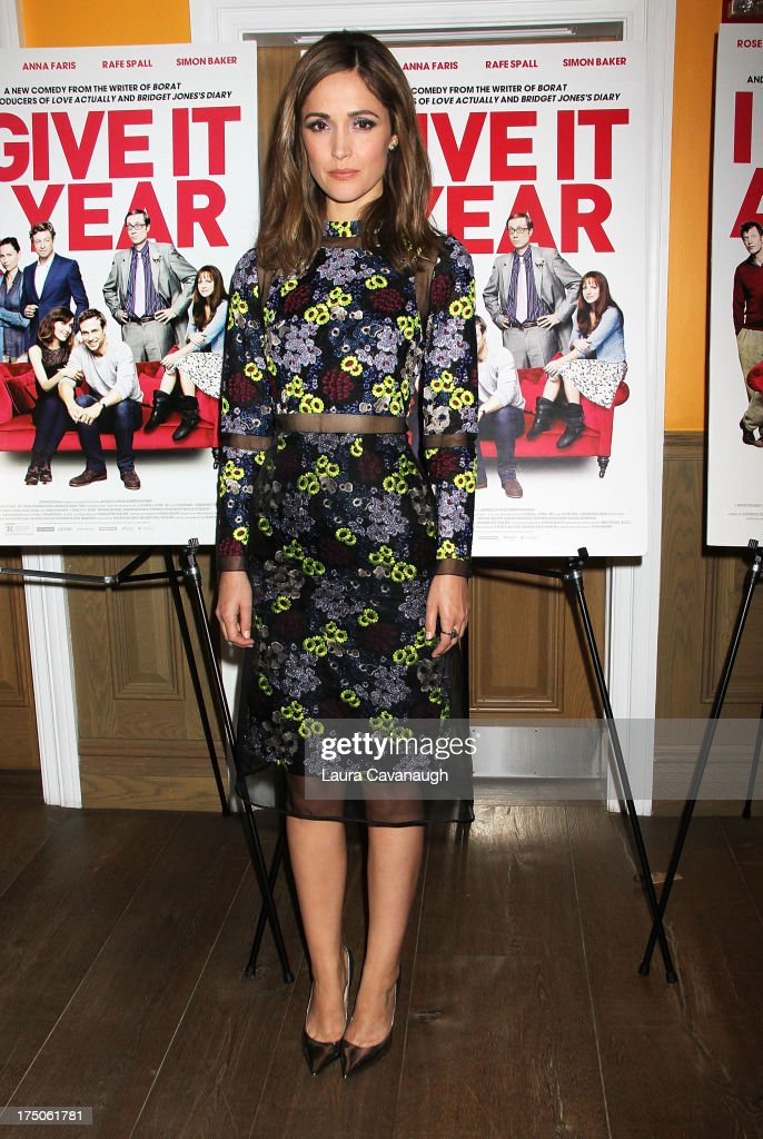 <a gi-track='captionPersonalityLinkClicked' href=/galleries/search?phrase=Rose+Byrne&family=editorial&specificpeople=206670 ng-click='$event.stopPropagation()'>Rose Byrne</a> attends the 'I Give It A Year' screening at the Crosby Street Theater on July 30, 2013 in New York City.