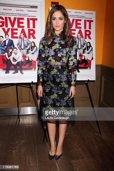 Rose Byrne attends the 'I Give It A Year' screening at the Crosby Street Theater on July 30 2013 in New York City