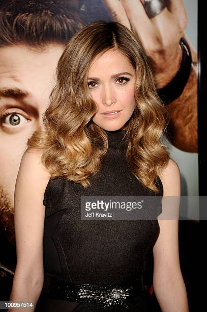 Rose Byrne attends the Los Angeles premiere of 'Get Him To The Greek' at The Greek Theatre on May 25 2010 in Los Angeles California
