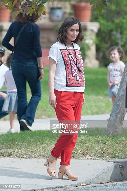 Rose Byrne is seen on the set of 'Neighbors 2' on October 27 2015 in Los Angeles California