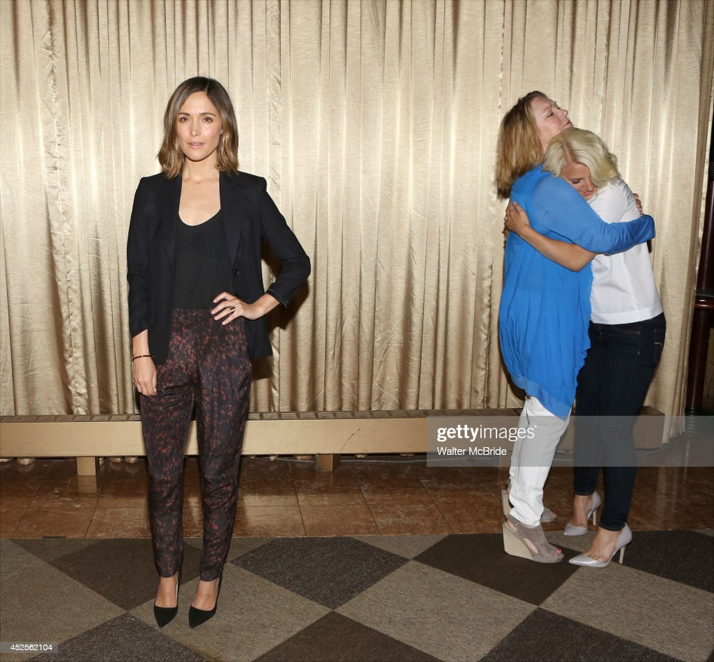 Rose Byrne Kristine Nielsen and Allaleigh Ashford attend the 'You Can't Take It With You' press preview at The New 42nd Street Studios on July 23...
