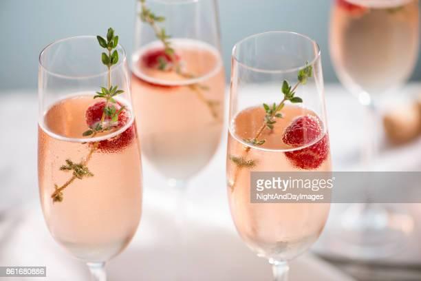 Rose Champagner Cocktails