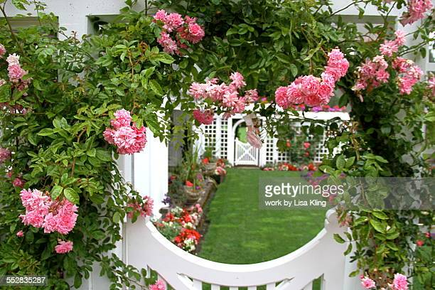 Rose Covered English Garden Gate