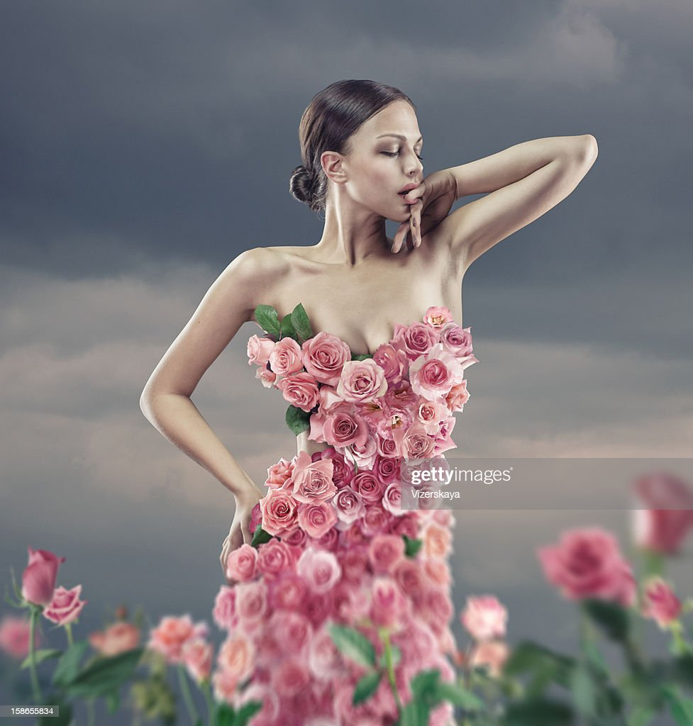Rose Dress : Stock Photo