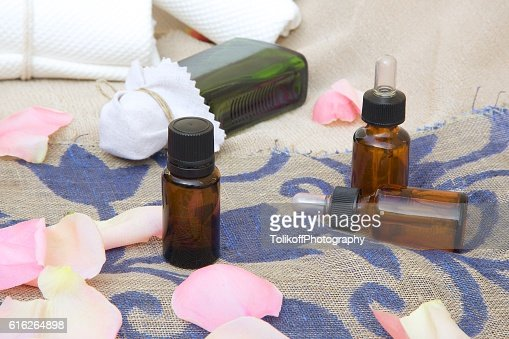 Rose essential oil : Stock Photo