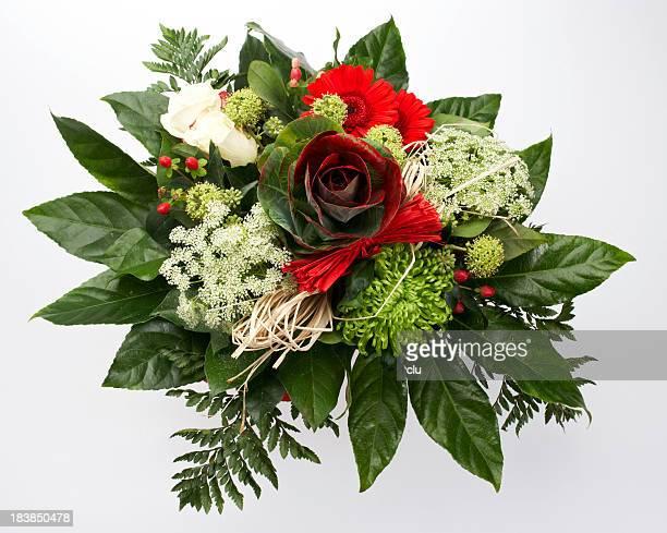 Rose Blume bouquet von oben