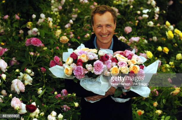 Rose grower David Austin Jr from Albrighton in Wolverhampton holds long lasting fragrant hybrid roses which have taken him 3 million and 14 years to...