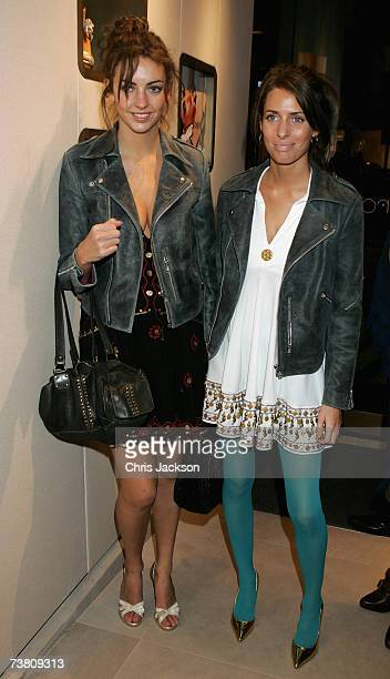 Rose Hanbury and Marina Hanbury attend the Sergio Rossi store launch party on Sloane Street on April 4 2007 in London England