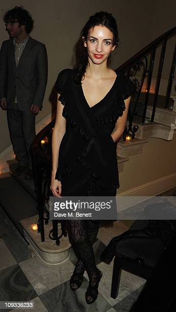 Rose Hanbury attends a private dinner hosted by Jefferson Hack and Jay Jopling to celebrate the 10th anniversary of AnOther Magazine on February 21...