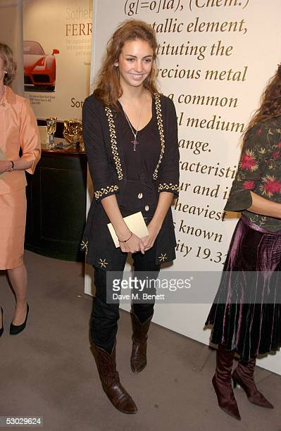 Rose Hanbury attends the annual summer party at Sotheby's New Bond Street on June 6 2005 in London England